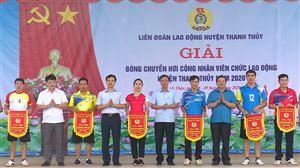 LĐLĐ huyện Thanh Thủy tổ chức giải bóng chuyền hơi CNVCLĐ năm 2020