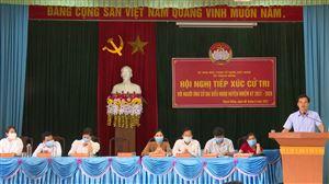 UB MTTQ huyện tổ chức hội nghị tiếp xúc cử tri giữa các ứng cử viên của đại biểu HĐND huyện với cử tri