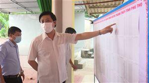 Ủy ban MTTQ tỉnh kiểm tra công tác chuẩn bị bầu cử tại xã Thạch Đồng và Xuân Lộc