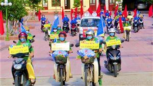 Thanh Thủy tổ chức diễu hành tuyên truyền bầu cử đại biểu Quốc hội khóa XV và đại biểu HĐND các cấp nhiệm kỳ 2021-2026