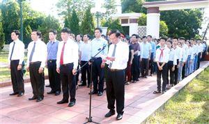 Thanh Thuỷ tổ chức viếng Nghĩa trang liệt sỹ Mặt trận Tu Vũ, Nhà bia tưởng niệm ghi tên liệt sỹ, Mẹ Việt Nam anh hùng.