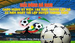Kết quả giải bóng đá nam chào mừng kỉ niệm 186 năm thành lập và 20 năm Ngày tái lập huyện
