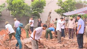 Uỷ ban Mặt trận Tổ quốc huyện Thanh Thủy khởi công xây dựng nhà đại đoàn kết tại xã Bảo Yên