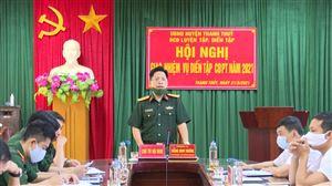 Giao nhiệm vụ diễn tập chiến đấu phòng thủ năm 2021 xã Tu Vũ, Đồng Trung