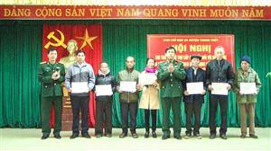 Ban Chỉ huy Quân sự huyện Thanh Thủy tổ chức chi trả chế độ trợ cấp một lần cho các đối tượng tham gia dân công hỏa tuyến