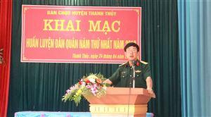 Ban Chỉ huy quân sự huyện khai mạc huấn luyện dân quân năm thứ nhất năm 2019