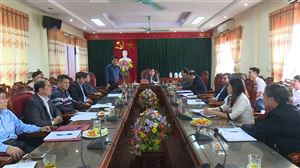 Huyện ủy Thanh Thủy gặp mặt Ban Thường vụ Đảng ủy 6 xã tiến hành sáp nhập