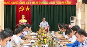 Họp Tiểu ban Tổ chức và Phục vụ Đại hội Đảng bộ huyện Thanh Thủy nhiệm kỳ 2020-2025