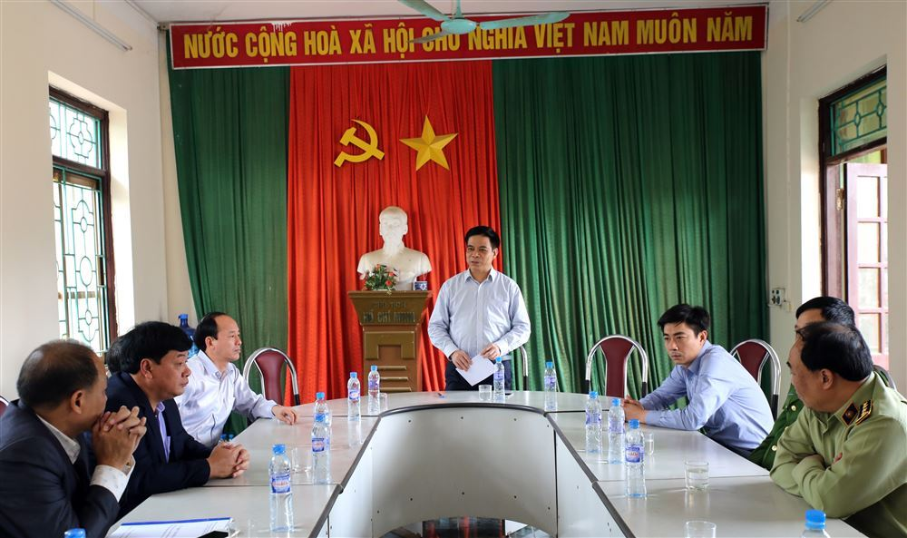 Phó Chủ tịch UBND tỉnh Nguyễn Thanh Hải kiểm tra công tác phòng chống bệnh dịch tả lợn Châu Phi tại huyện Thanh Thủy