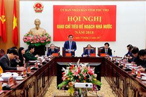 Tập trung thực hiện các giải pháp thúc đẩy tăng trưởng kinh tế của tỉnh trong năm 2018