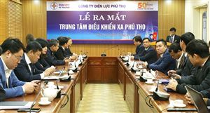 Công ty Điện lực Phú Thọ: Ra mắt Trung tâm điều khiển xa