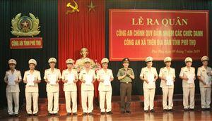Điều động, bổ nhiệm 55 cán bộ, chiến sĩ Công an chính quy đảm nhiệm các chức danh Công an xã