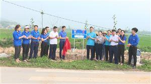 Huyện đoàn Thanh Thủy khánh thành và bàn giao hàng cây thanh niên tại xã Bảo Yên