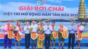 Thanh Thủy tham gia Giải bơi chải Việt Trì mở rộng năm Tân Sửu 2021