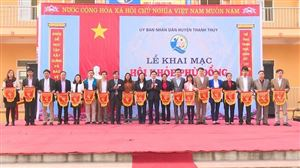 Thanh Thủy khai mạc Hội khỏe Phù đổng năm 2018