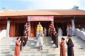 Giáo hội Phật giáo Việt Nam tỉnh Phú Thọ khánh thành nhà Tổ chùa Hoa An xã Bảo Yên
