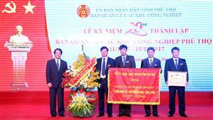 Ban quản lý các KCN Phú Thọ kỷ niệm 20 năm ngày thành lập