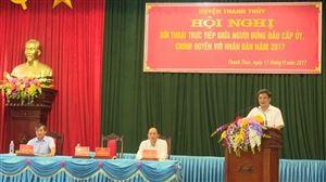 Thanh Thủy tổ chức Hội nghị đối thoại trực tiếp giữa người đứng đầu cấp ủy, chính quyền huyện với nhân dân