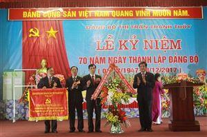 Đảng bộ Thị trấn Thanh Thủy kỷ niệm 70 năm ngày thành lập