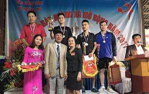 Giải bóng bàn Hoàng Xá mở rộng tranh cúp Vàng bạc Thủy Minh năm 2017