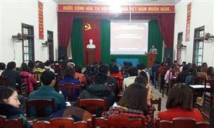 Trung tâm Bồi dưỡng Chính trị huyện mở lớp bồi dưỡng lý luận chính trị cho đối tượng kết nạp Đảng