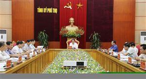 Hội nghị Ban Thường vụ Tỉnh ủy Phú Thọ