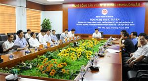 Hội nghị trực tuyến về lập kế hoạch phát triển KT-XH năm 2019