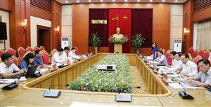Đoàn khảo sát của Ban Tổ chức Trung ương làm việc tại tỉnh