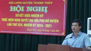 Hội LHPN huyện Thanh Thủy sơ kết giữa nhiệm kỳ thực hiện Nghị quyết Đại hội phụ nữ huyện lần thứ XXV, nhiệm kỳ 2016-2021