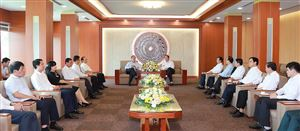 Trưởng ban Kinh tế Trung ương Nguyễn Văn Bình làm việc tại tỉnh
