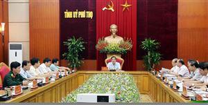 Ban Thường vụ Tỉnh ủy thảo luận về kế hoạch tổ chức Đại hội Đảng bộ tỉnh lần thứ XIX