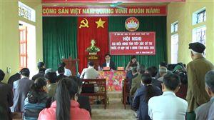 Đại biểu HĐND tỉnh tiếp xúc cử tri tại Thanh Thủy