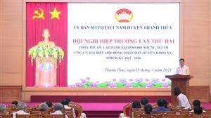 Mặt trận tổ quốc huyện Thanh Thủy tích cực tham gia công tác bầu cử đại biểu Quốc hội và HĐND các cấp