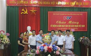 Lãnh đạo huyện Thanh Thủy thăm, chúc mừng các cơ quan báo chí tỉnh