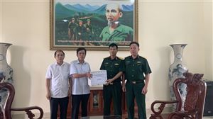 Ban CHQS huyện Thanh Thủy thăm và động viên quân nhân dự bị đang huấn luyện tại Trung đoàn 753