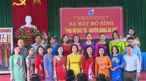 Ra mắt Câu lạc bộ Phụ nữ đất Tổ duyên dáng áo dài xã Tu Vũ