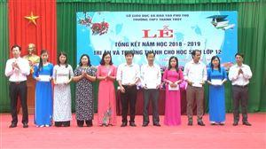 Trường THPT Thanh Thủy có 100% học sinh tốt nghiệp THPT năm 2019
