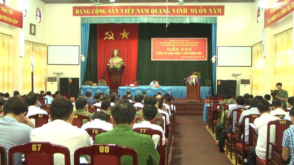 Thanh Thủy tổ chức diễn đàn công an lắng nghe ý kiến nhân dân