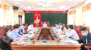 Hội nghị BTV Huyện ủy Thanh Thủy tháng 2 năm 2021
