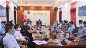 Thanh Thủy tham dự hội nghị trực tuyến toàn quốc về phòng, chống dịch Covid-19