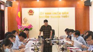 UBND huyện tổ chức hội nghị nghe và cho ý kiến báo cáo tình hình phát triển KT-XH 6 tháng đầu năm 2021