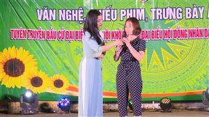 Trung tâm Văn hoá và Chiếu phim tỉnh Phú Thọ tuyên truyền bầu cử Đại biểu Quốc hội và đại biểu HĐND tại xã Bảo Yên