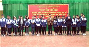 Trường THPT Thanh Thủy ngoại khóa truyền thông hưởng ứng tháng hành động quốc gia về dân số