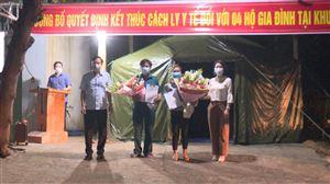 Kết thúc thời gian cách ly y tế đối với 4 hộ gia đình tại xã Tu Vũ