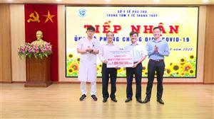 UBMTTQ Việt Nam, Ban cứu trợ Trung ương ủng hộ 1 tỷ đồng mua vật tư y tế, phòng chống dịch Covid-19 cho TTYT huyện Thanh Thủy