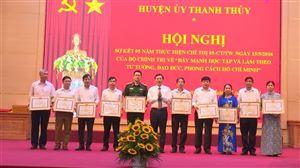 Huyện ủy Thanh Thủy sơ kết 5 năm thực hiện Chỉ thị 05 của Bộ Chính trị