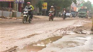 Thanh Thủy - Đường tỉnh lộ 317C xuống cấp nghiêm trọng