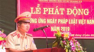 Trường THCS Hoàng Xá tổ chức điểm ngoại khóa Ngày Pháp luật Việt Nam năm 2019