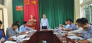 Kiểm tra kết quả thực hiện các chương trình đầu tư, phát triển sx nông nghiệp trên địa bàn xã Tu Vũ