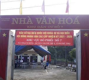 100% cử tri xã Thạch Đồng đi bỏ phiếu